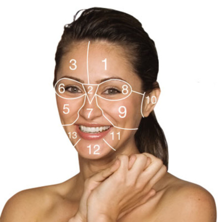 face mapping dermatologica