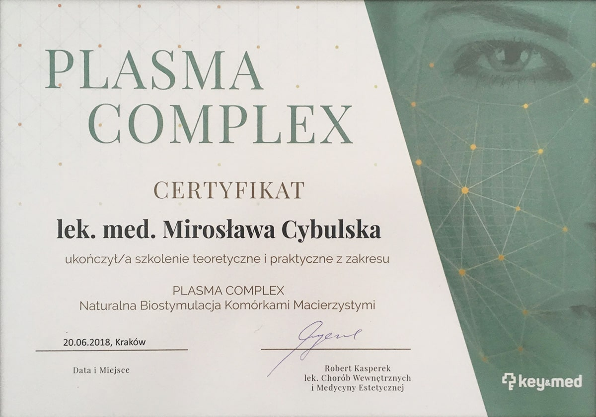 certyfikat plasma